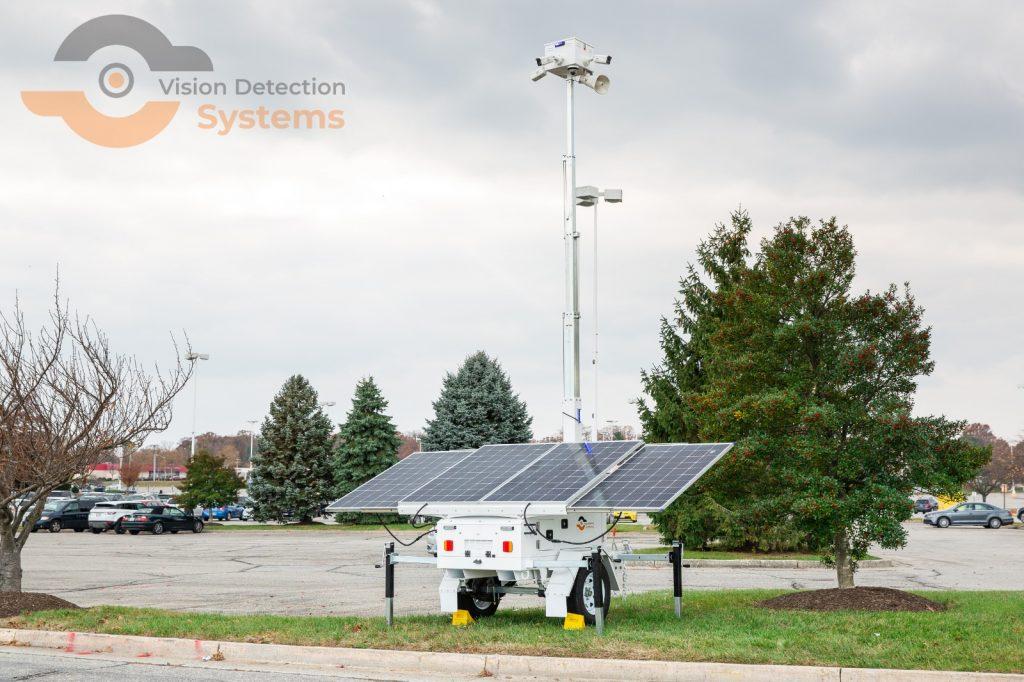 remote mobile surveillance security trailer