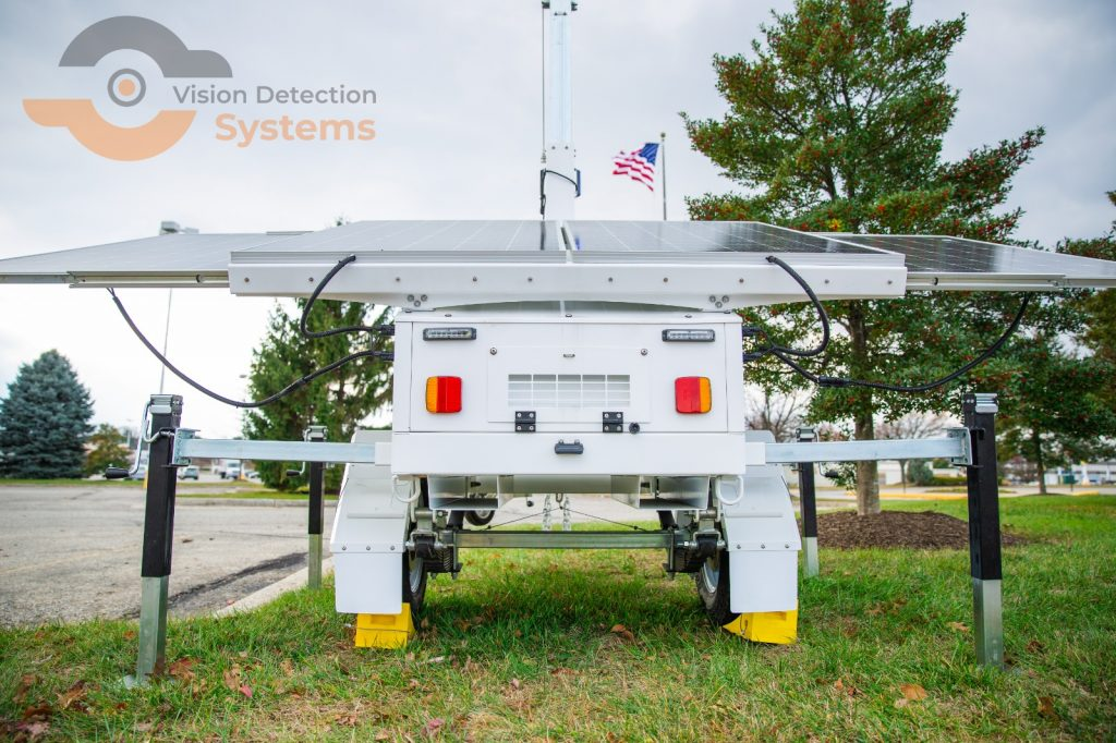 video surveillance security trailer
