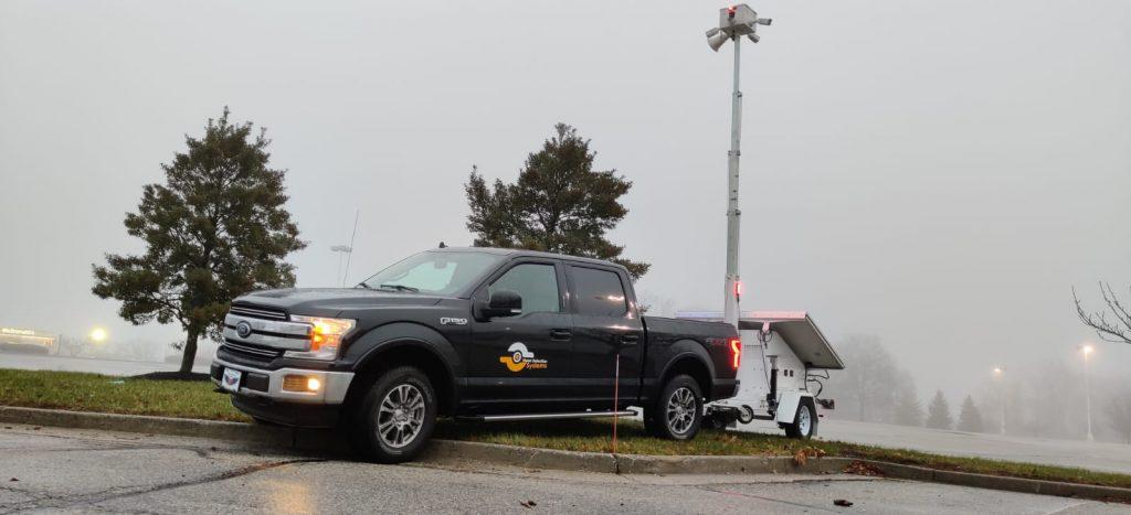mobile surveillance trailer