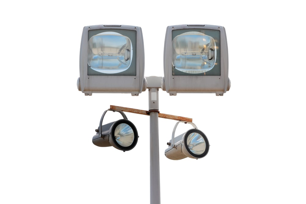 construction security lighting