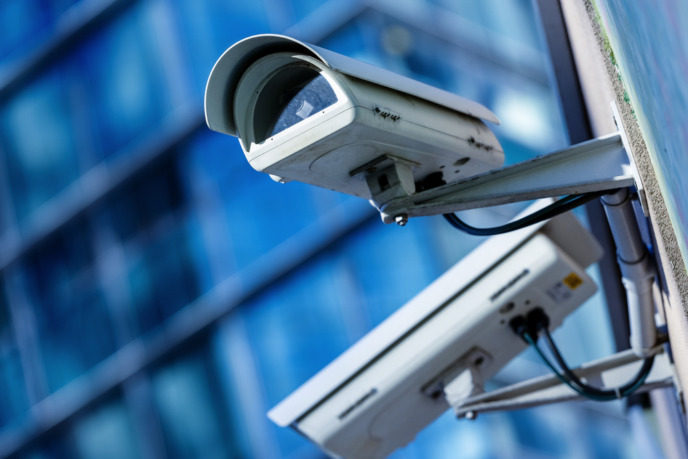 installed commercial security camera