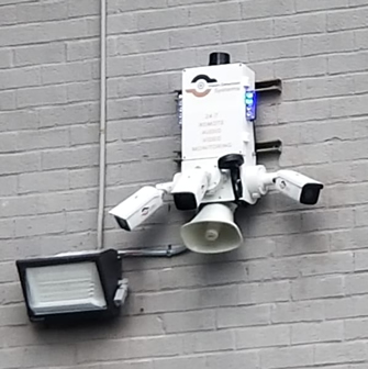 installed surveillance camera